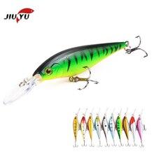 цена на 1PCS Laser Minnow Fishing Lure 11CM 9.5G pesca hooks fish wobbler tackle crankbait artificial japan hard bait swimbait