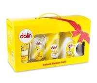 Dalin Baby Care Kit Cleaning Set Tearless Shampoo + Diaper Rash Cream + Baby Powder + 40 Pcs Baby Wet Towel + Baby Oil All 7 Pcs
