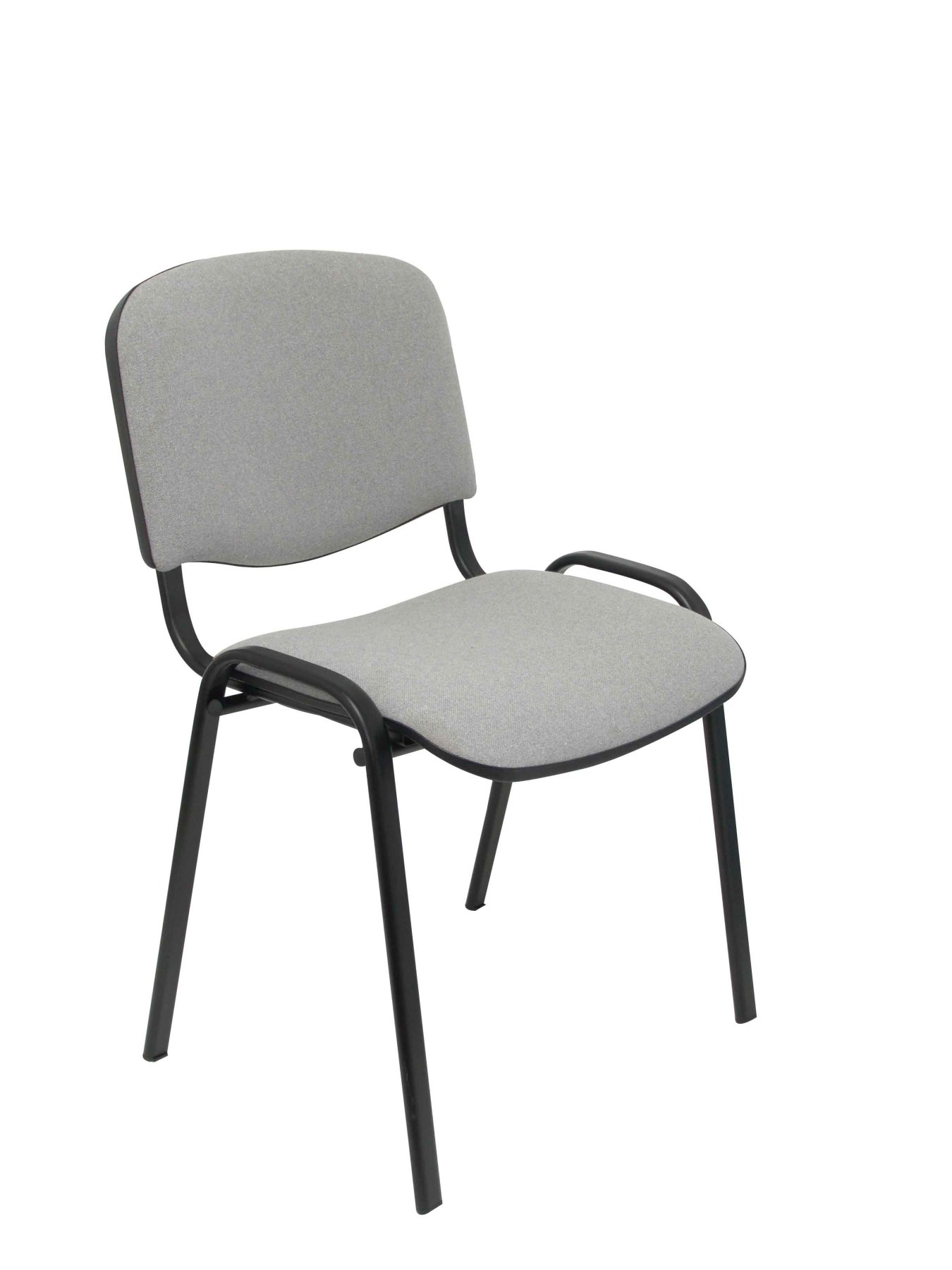 Confident Chair Ergonomic, Stackable, Multi-purpose And Structure In Black Color Seat And Back Upholstered In Fabric AR