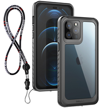Inkolelo for iPhone 12 Pro Max Case Waterproof Built in Screen Protector IP68 Full Body Heavy Duty Shockproof Dustproof Black