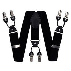 Hosenträger für hosen breite (4 cm, 6 clips, schwarz, abbildung) 55146