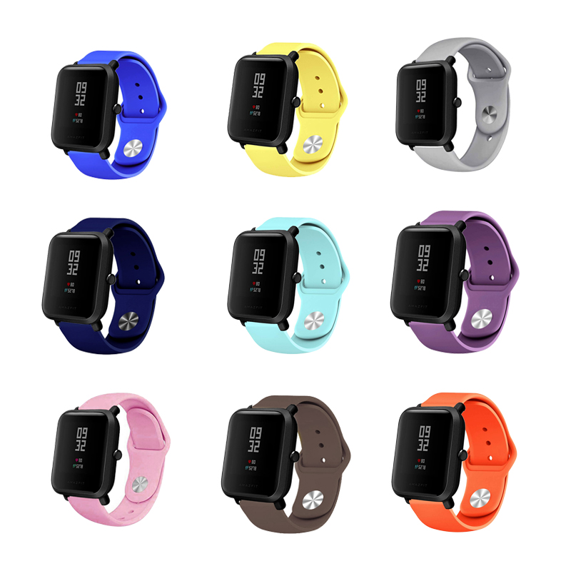 Xiaomi Amazfit Bip Silicone Strap Mi Band 3 Bracelet Replacement Accessory Smart Watch Silicone Strap 11 Colorful Soft Band