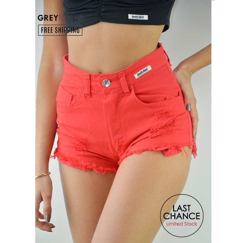 DOUBLE AGENT Ripped Shorts For Women Frayed Shorts Ripped Shorts Women Shorts High Waisted Bermuda Shorts Short Shorts