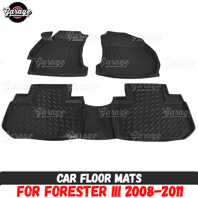 Mazda 3 2009-2013 Tailored Black Rubber Carpet Car Floor Mats Set Made 2 Order