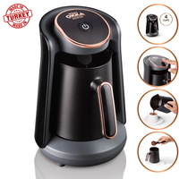 Arzum Okka Minio OK004 Automatic Turkish Coffee Maker Machine, 4 Cups Capacity (300 ML.) Washable Coffee Pot, Sound Alert System