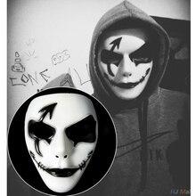 Вечерние Маски на Хэллоуин, танцевальные принадлежности, маска Ужас, ручная роспись, уличное платье, реквизит для шоу, Маскарадная маска для взрослых, маска для выступлений, реквизит
