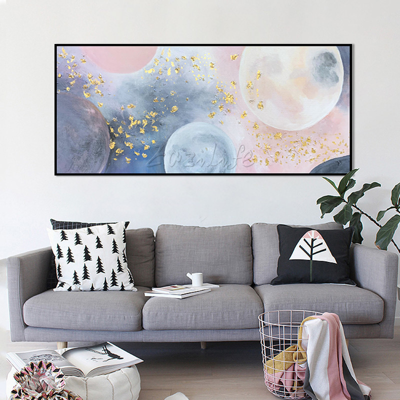 Μοντέρνα αφηρημένη γεωμετρική ροζ - Διακόσμηση σπιτιού - Φωτογραφία 4