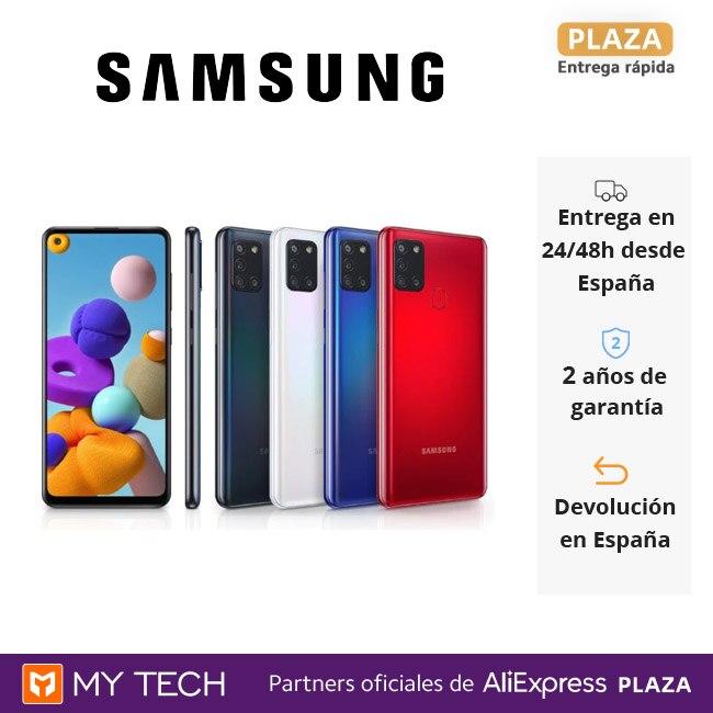 Samsung Galaxy A21s, teléfono móvil original, Smartphone 3GB+32/64GB, 4 cámaras, 48MP, carga rápida 15W, reconocimiento facial|Teléfonos móviles| - AliExpress