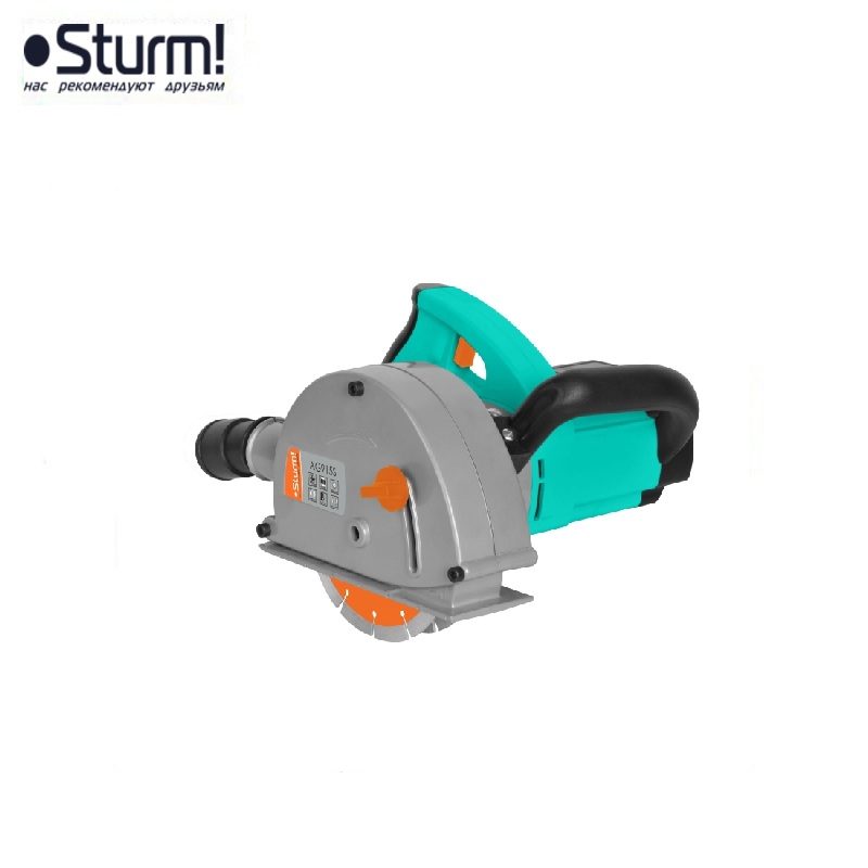 цена на AG915S Shtroborez Sturm, 150 mm, 1600 W case, 8500 rpm Sawing grooves in Concrete Brick walls Laying of electrical networks