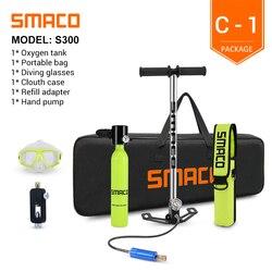 SMACO Mini Scuba Tauchen Tank Ausrüstung, Dive Zylinder mit 8 Minuten Fähigkeit, 0,5 Liter Kapazität mit Nachfüllbare Design