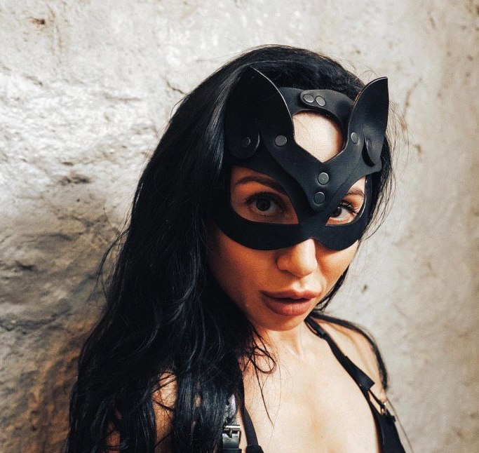 Women Sexy Mask Pussy Scarves Leather Mask Erotic Outfit Carnival Fancy Mask