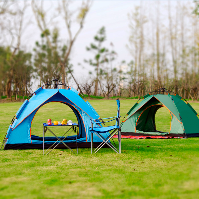 Automatic tent/tent automatic/4 local tourist tent. Automatic tent leisure camping, raincoat tent. Folding tent for hiking. Easy instant installation. Quick automatic opening of the tent. Family tent with a visor-2