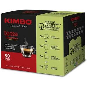 Kimbo Pods Compostable ESE - Espresso Neapolitan (5x50 pods) + Kit compostable (sugar vane cups)