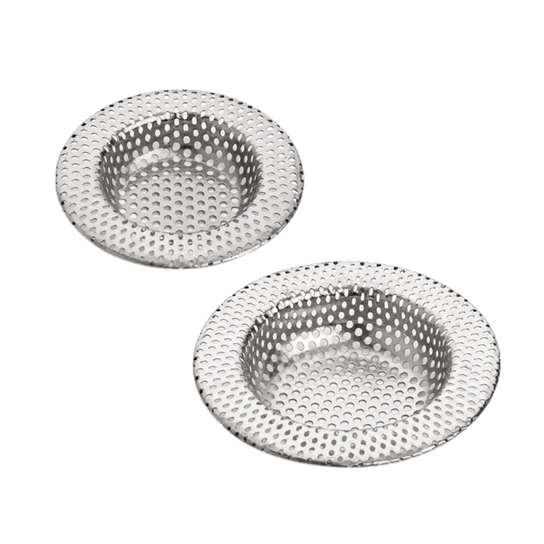 Stainless Steel Kitchen Sink Filter Small Large Full Punch Kitchen Sink Strainer Waste Plug Drain Stopper Filter Basket