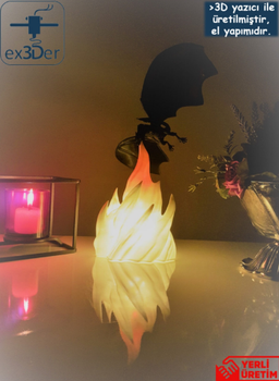 Decorative Flame Dragon Desktop Lamp 4