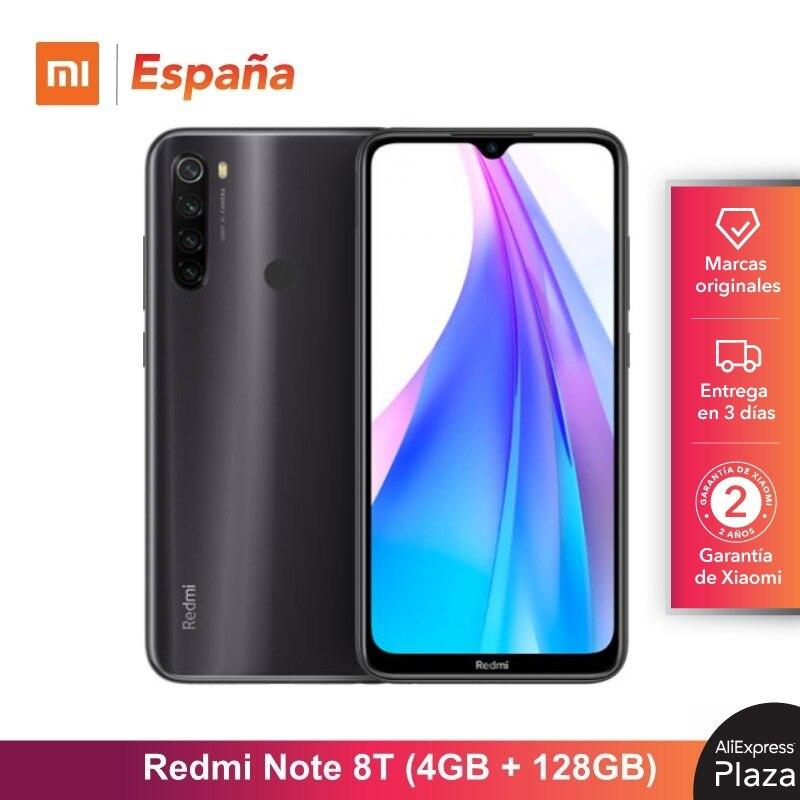 Xiaomi Redmi Note 8T (128GB ROM, 4GB RAM, 13MP Frontal Cámara, Nuevo, Libre) [Teléfono Movil Versión Global Para España]