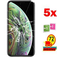 5x Protectors Screen Tempered Glass for for APPLE IPHONE XS (Generico  Not Full SEE INFO) WIPES