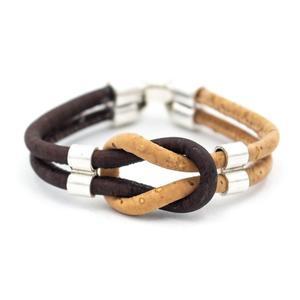 Image 2 - Bracelet en liège coloré original vintage unisexe fait main bijoux bracelet BR 424 MIX 5