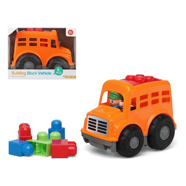 Building Blocks Game 114591 Orange (6 Pcs)