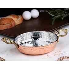 Anatolien Ottoman turc arabe cuivre oeuf Omelette poêle 3 ensembles/3 paquets Frier Pot poêle poignées en laiton fabriqués en turquie
