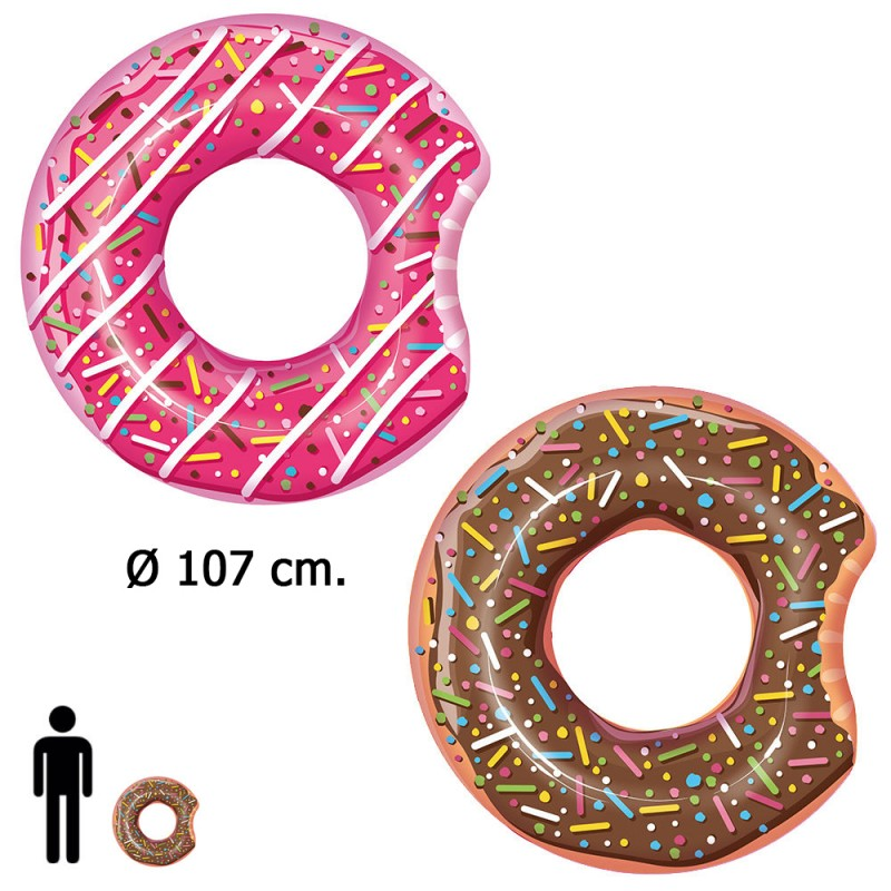Float Donut Giant Pink/Chocolate Ø 107 Cm.