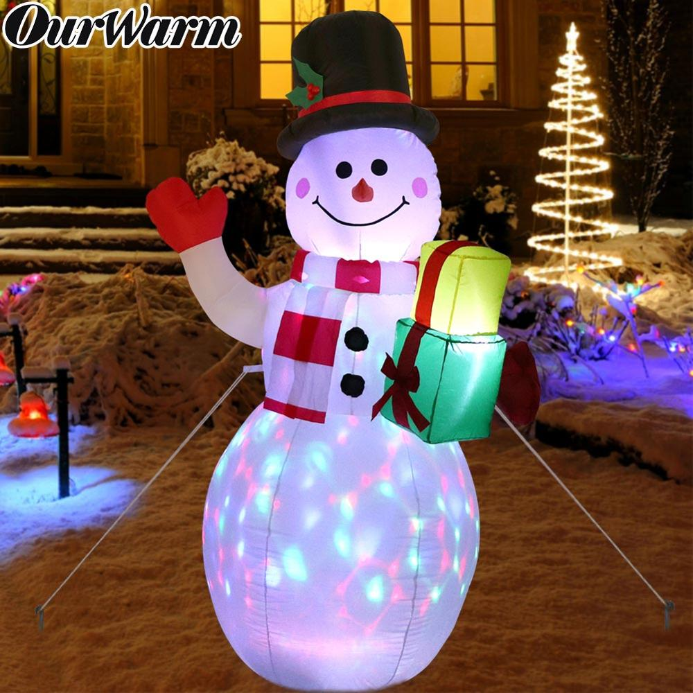 OurWarm 1 52M Christmas Inflatable Decorations 5ft Snowman