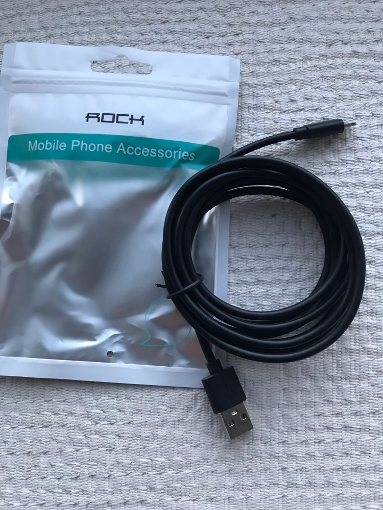 ROCK 3 pcs/lot 2m USB Cable For iPhone X 8 7 6 6S Plus 5 5s SE Fast Data Sync Charging Charger Cables for Lighting Cable cord|Mobile Phone Cables|   - AliExpress