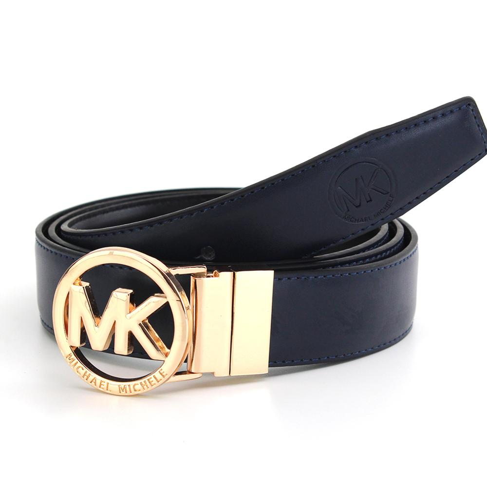 Belt With Cam Buckle Gold Logo