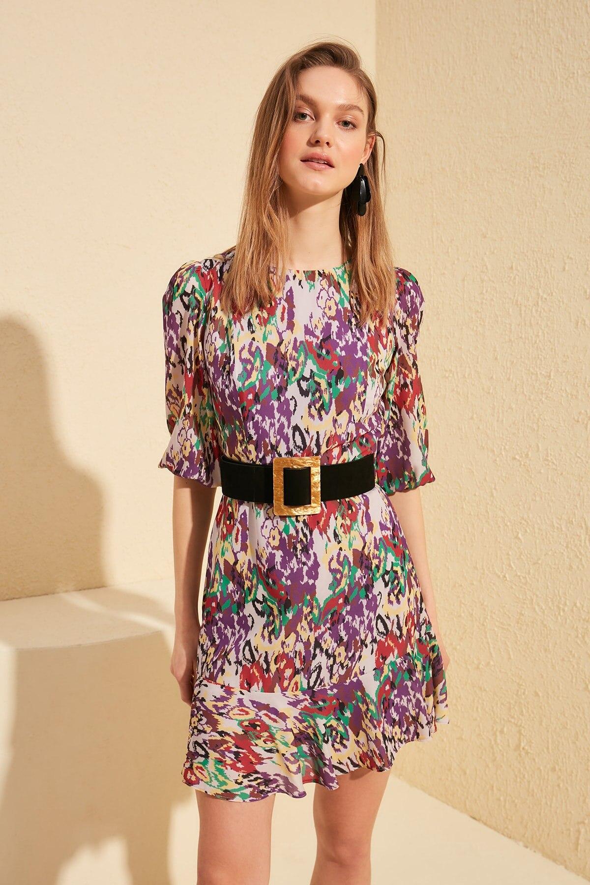 Trendyol Patterned Dress TWOSS20EL0495