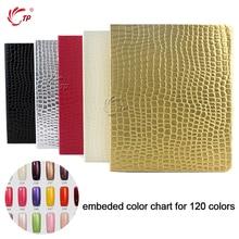 TP Crocodile Grain 120 Color Nail Art Display Book with Tips Acrylic UV Gel Polish Coloring False Nail Tip Chart Card Salon Kit