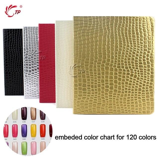TP faux ongles, livre dexposition pour manucure, 120 couleurs, livre avec pointes, vernis Gel UV acrylique, coloration, carte, Kit de Salon