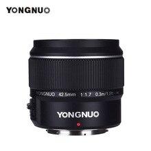 YONGNUO YN42.5mm F1.7Mขนาดใหญ่AF/MFเลนส์มาตรฐานPrimeเลนส์สำหรับM4/3 กล้องDSLRสำหรับGF8 GF9 Olympus E PL9