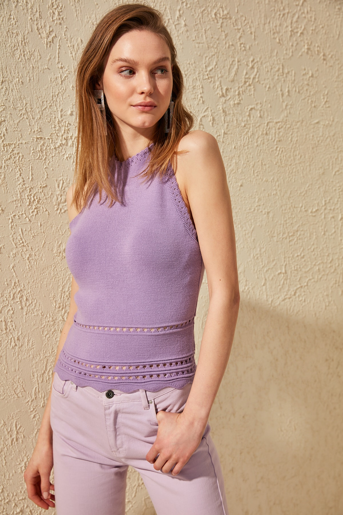 Trendyol Halter Collar Knitwear Blouse TWOSS20BZ0242