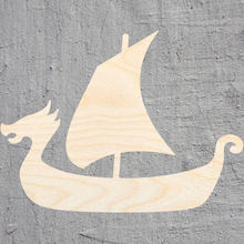 viking ship silhouette Laser Cut Out Wood Shape Craft Supply Unfinished Cut Art Projects Craft Decoration Gift Decoupage Orname()