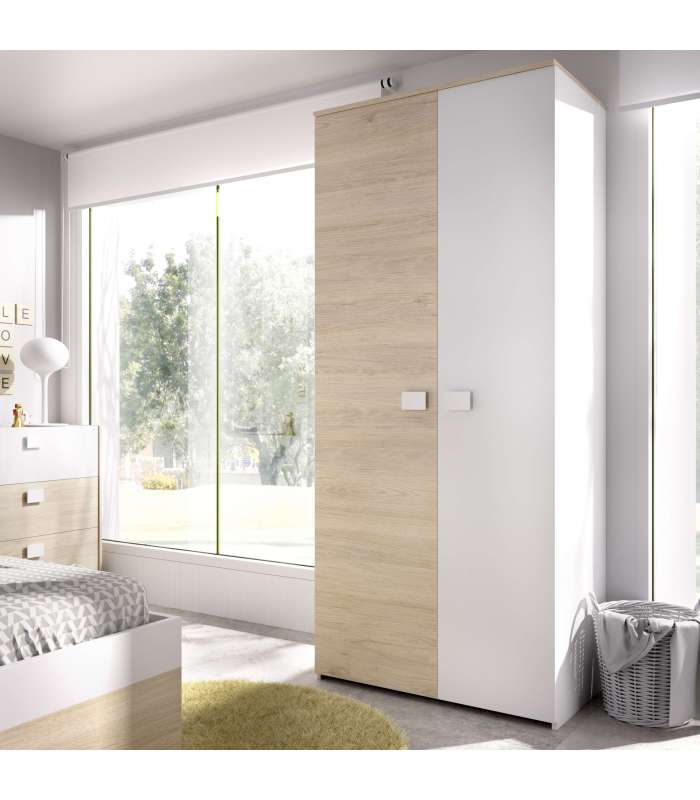 Wardrobe 2 Doors Dina 95 Cm Wide.