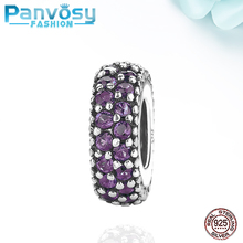 New Jewelry Making Sterling Silver 925 Bead Fit Pandora Charms Silver 925 Original Bracelet 2020 Charm Amethyst Beads DIY Women new arrival 925 silver charms beads with colorful cz stone fit authentic pandora bracelet diy fashion jewelry making women gift