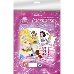 Set for children's creativity Disney Princess Coloring by numbers