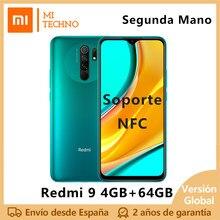 Xiaomi Redmi 9 Segunda Mano Smartphone(4GB RAM,64GB ROM,NFC,Teléfono Móvil,Libre,Barato,Batería 5020mAh) [Versión Global]