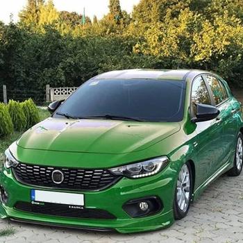 Lustrzane osłony dla Fiat Egea Tipo Eu 2015-2020 akcesoria jasnoczarny BAT obudowa z batmanem osłony samochodowe części zewnętrzne tanie i dobre opinie Autovision TR (pochodzenie)