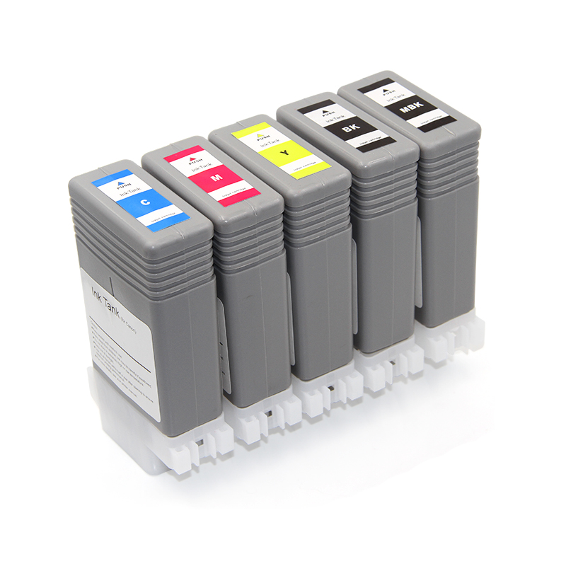 PFI120 Compatible Ink Cartridge For Canon TM200 TM205 TM300 TM305 200 205 300 305 Printer With Pigment Ink And Chips