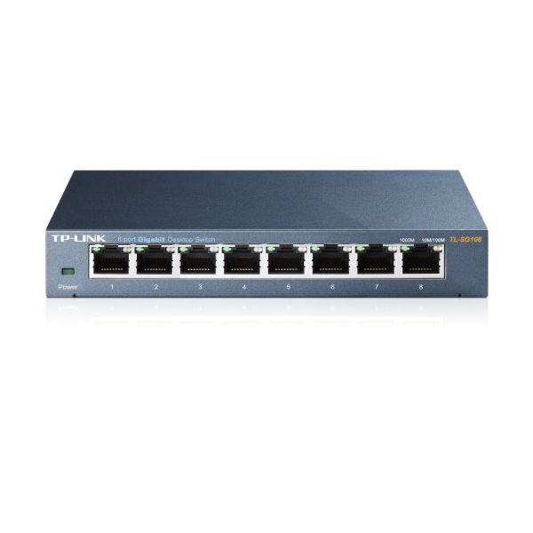 Desktop Switch TP-LINK TL-SG108 8P Gigabit Auto MDIX Metal