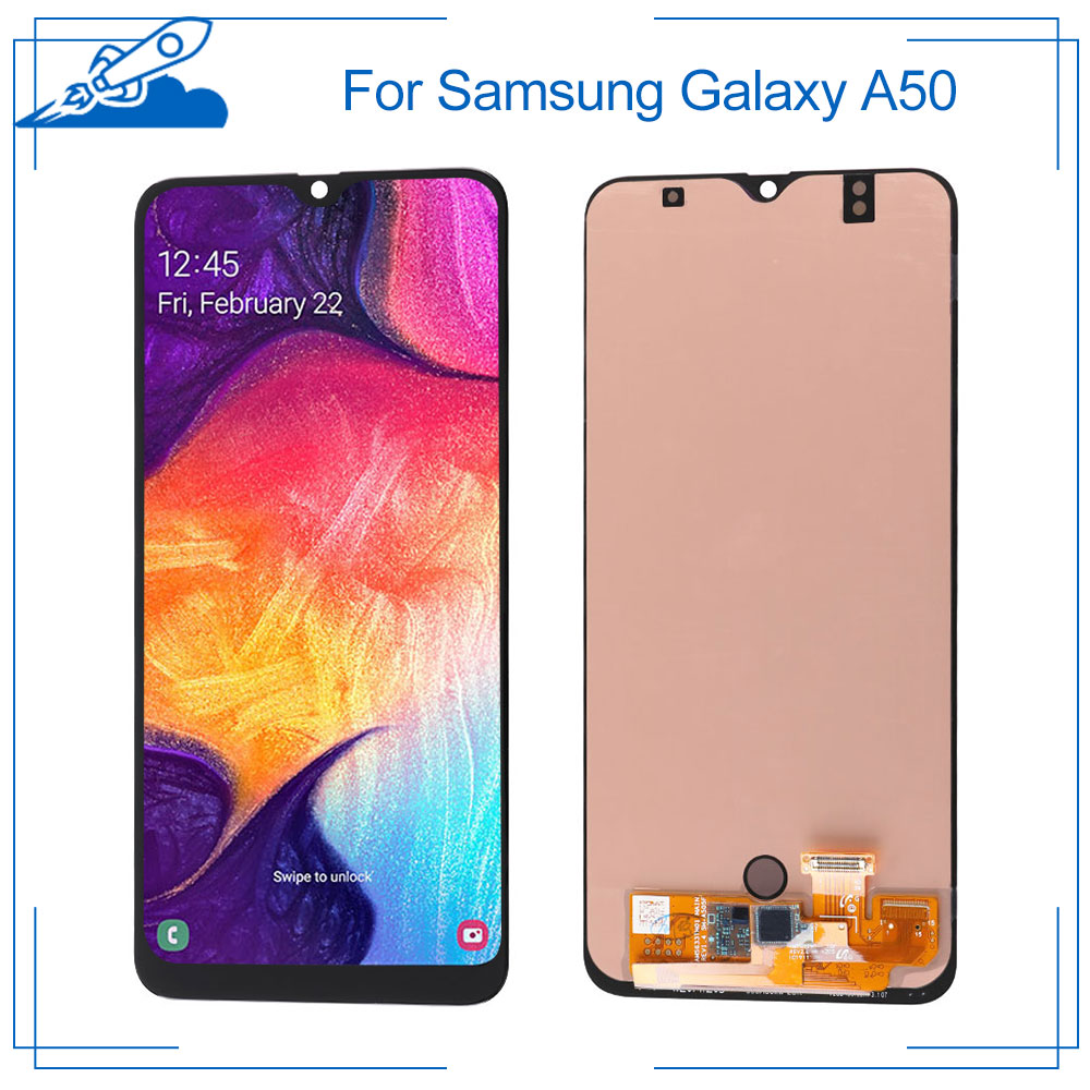 100% OEM AMOLED For <font><b>Samsung</b></font> <font><b>Galaxy</b></font> <font><b>A50</b></font> A50s <font><b>LCD</b></font> Touch Screen amoled Display Digitize Assembly Replacement Frame NO Dead Pixel image