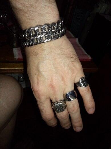 Chevalière noir homme - 3 couleurs (Tungstène)