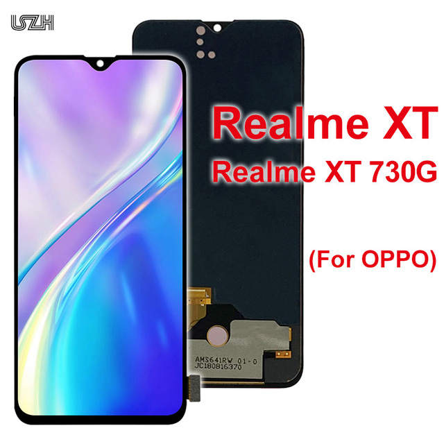 20Pcs Wholesale for OPPO Realme XT Display with Touch Screen for Realme XT 730G LCD Digitizer Pantalla Reapir Parts by DHL EMS 1