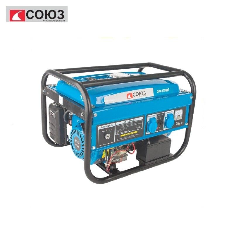 EGS-87300E SOYUZ petrol generator, 2800 W, battery, electric. start, AVR (Auto Reg.Napr) Power home appliances Backup все цены