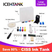 ICEHTANK Ciss Bulk Ink For HP 301 304 302 123 122 652 650 21 22 300 140 141 121 XL Continuous Ink System Ink Tank Printer Ciss