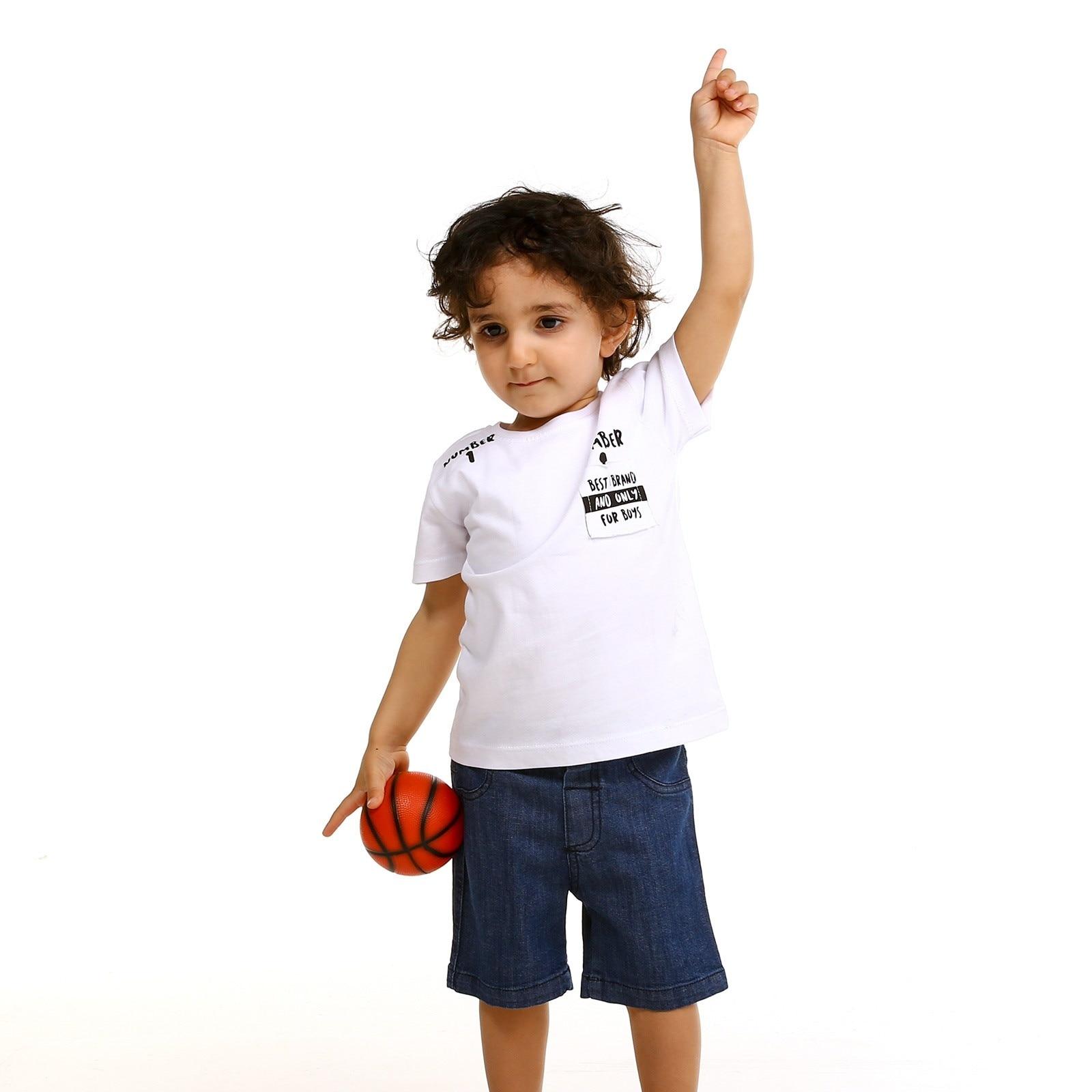 Ebebek Tuffy Baby Boy Button Neck Best Brand Tshirt