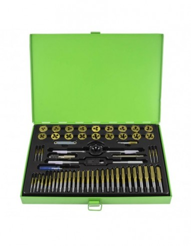 JBM 50792 CASE METRIC WITH 58 PIECES OF MALES AND DIES COATED TITANIUM