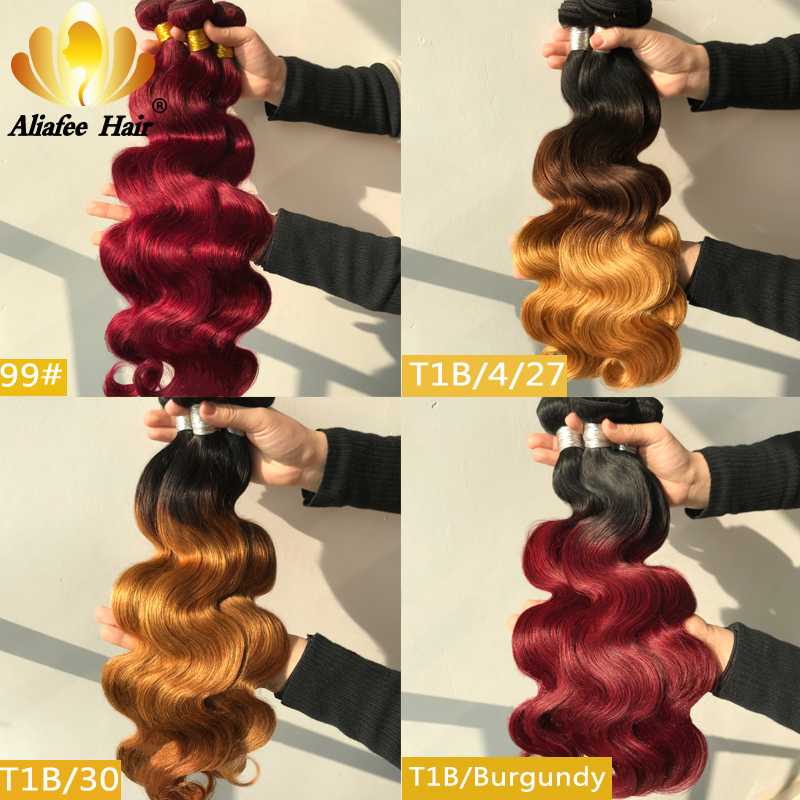 Aliafee Peruvian Body Wave <font><b>Hair</b></font> Extensions