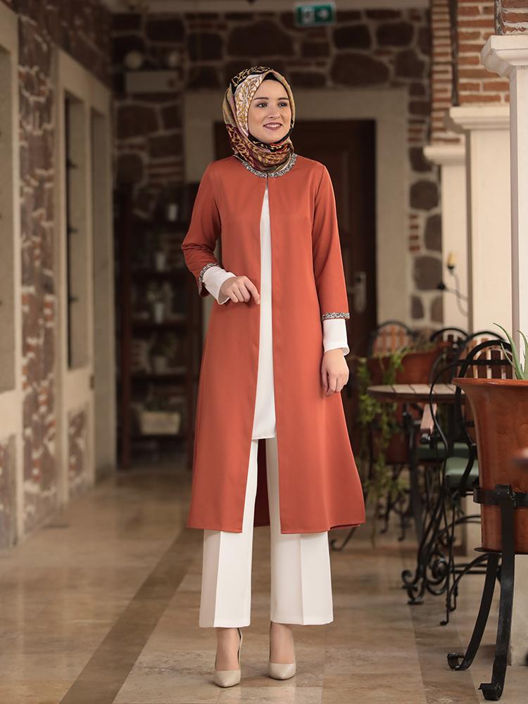 Hijab Suit 3 Piece Set Muslim Dress Islamic Women's Clothing New Season High Quality Made in Turkey
